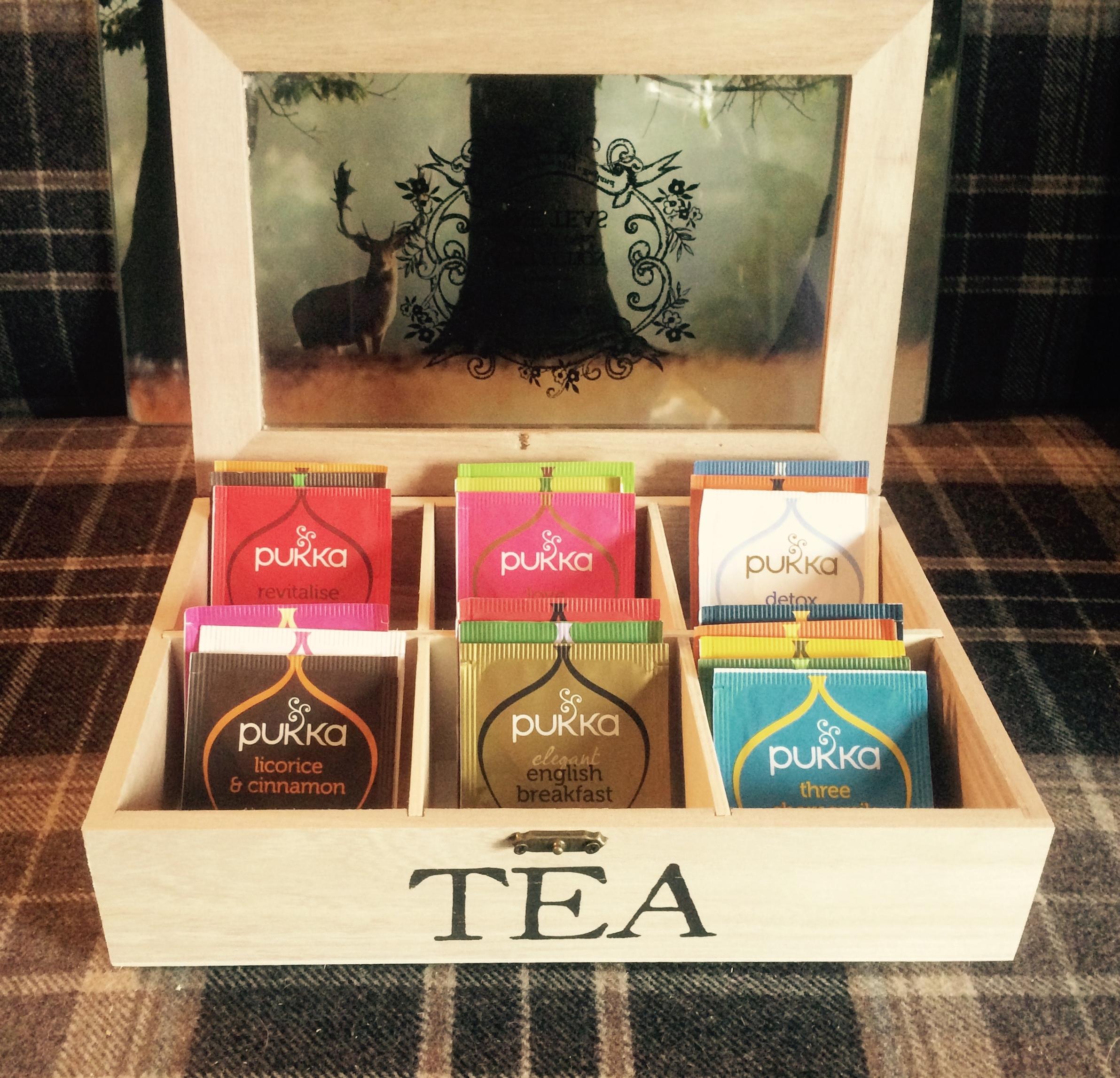 Free complimentary Pukka teas