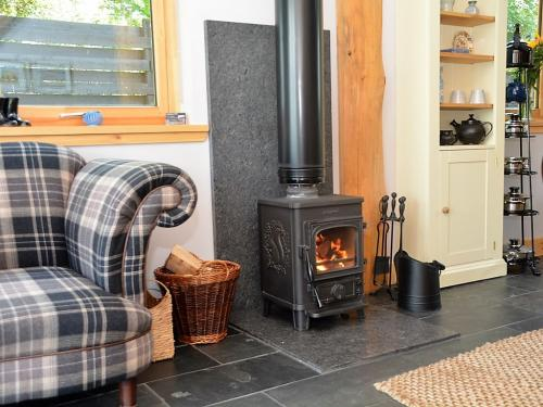 Log Burner and logs in living room